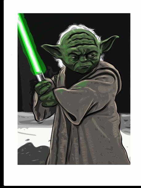 Master Yoda, Digital Illustration