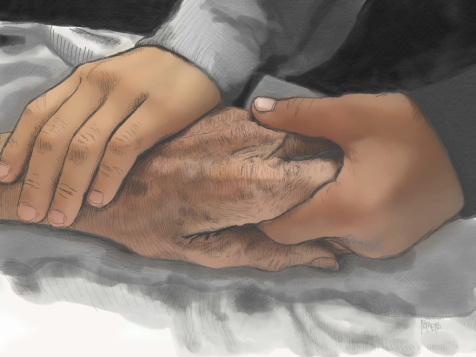 Holding Grandfather's Hand