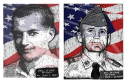 Medal of Honor Recipients PFC Mann and SFC Grandstaff